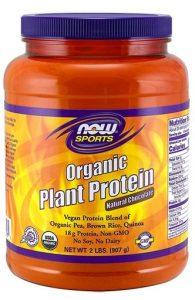 Organic Plant Protein By NOW, Natural Unflavored, 2LB   Comprar Suplemento em Promoção Site Barato e Bom