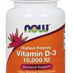 NOW, Vitamin D-3, 10,000 IU, 120 Softgels   Comprar Suplemento em Promoção Site Barato e Bom
