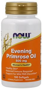 Evening Primrose Oil By NOW, 500 mg, 100 Softgels   Comprar Suplemento em Promoção Site Barato e Bom