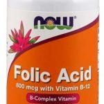 NOW Folic Acid, 800 mcg with B12, 250 Tabs   Comprar Suplemento em Promoção Site Barato e Bom