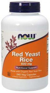 Red Yeast Rice By NOW, 600 mg, 240 Veg Caps   Comprar Suplemento em Promoção Site Barato e Bom