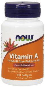 NOW Vitamin A, 10,000 IU, 100 Softgels   Comprar Suplemento em Promoção Site Barato e Bom