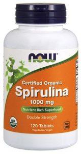 NOW Spirullina, 1000 mg, 120 Tabs   Comprar Suplemento em Promoção Site Barato e Bom