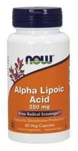 NOW Alpha Lipoic Acid, 250 mg, 60 Vcaps   Comprar Suplemento em Promoção Site Barato e Bom