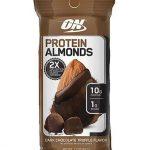 Protein Almonds By Optimum Nutrition, Dark Chocolate, Single Packet   Comprar Suplemento em Promoção Site Barato e Bom