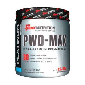 PWO Max By Prime Nutrition, Blue Lemonade, 30 Servings   Comprar Suplemento em Promoção Site Barato e Bom