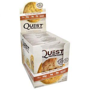 Quest Cookie, Peanut Butter, 12/Box, by Quest Nutrition   Comprar Suplemento em Promoção Site Barato e Bom