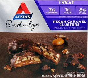 Atkins Endulge Treat Pecan Caramel Clusters -- 10 Packs   Comprar Suplemento em Promoção Site Barato e Bom