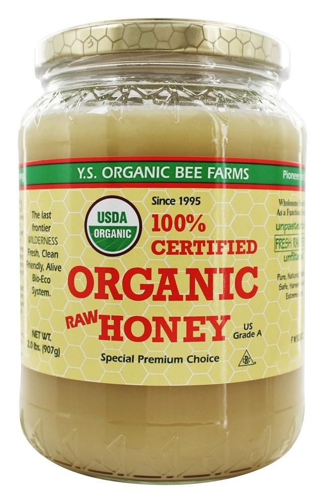 Certified Organic Honey 100%   2 lbs. by YS Organic Bee Farms