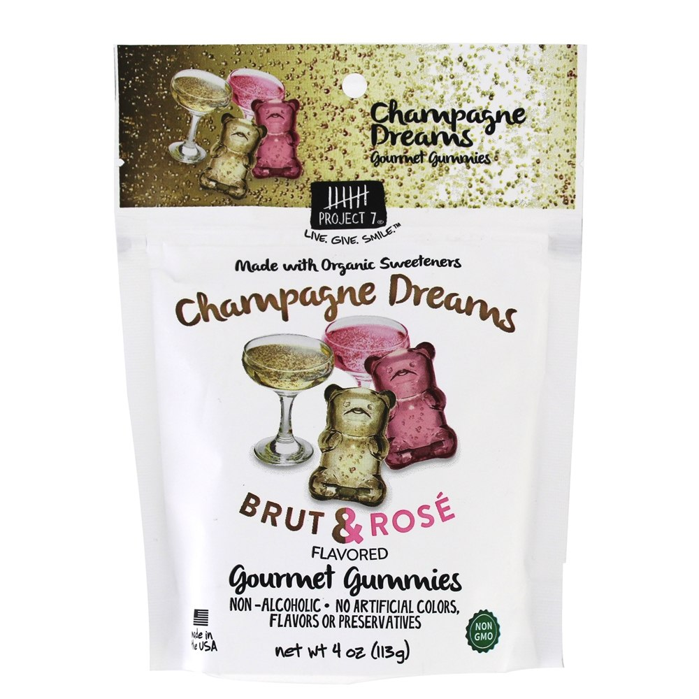 Champagne Dreams Gourmet Gummies Brut & Rose   4 oz. by Project 7