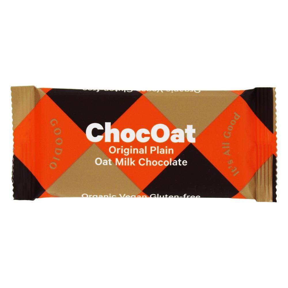 ChocOat Oat Milk Chocolate Bar Original Plain   0.9 oz. by Goodio Chocolate