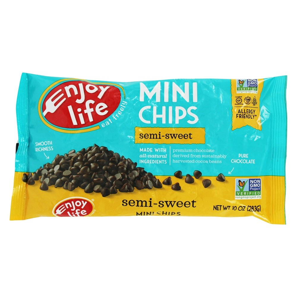 Gluten Free Allergy Friendly Semi Sweet Mini Chips   10 oz. by Enjoy Life Foods