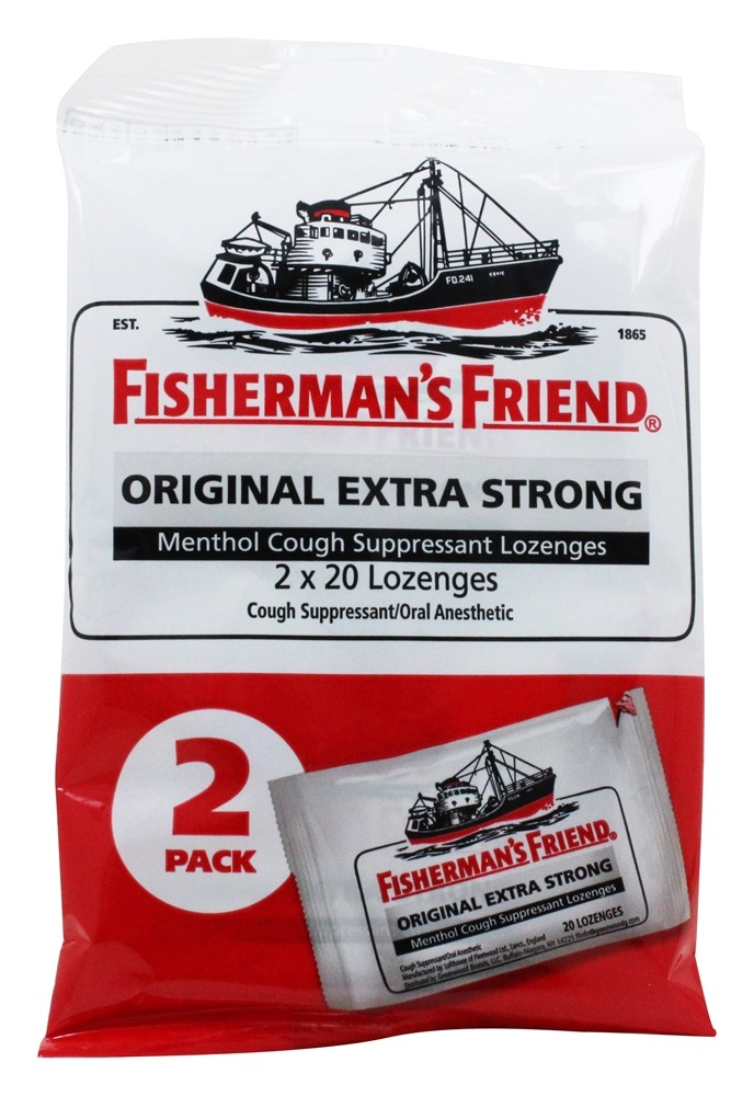 Menthol Cough Suppressant Lozenges Original Extra Strong 2 Pack   40 Lozenges by Fisherman