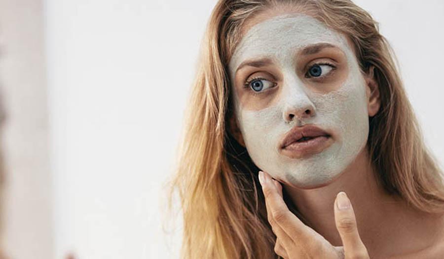 Selbst gemachte probiotische Gesichtsmaske