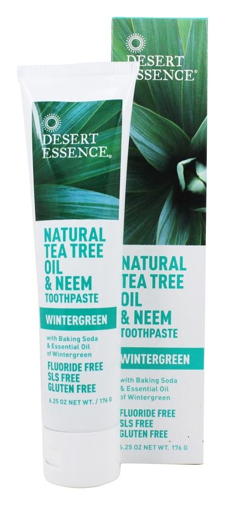 Toothpaste Natural Tea Tree Oil & Neem With Baking Soda Wintergreen   6.25 fl. oz. by Desert Essence