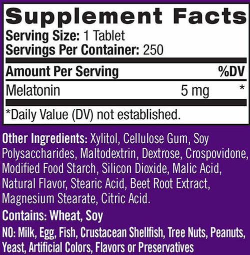 Natrol Melatonin, 5 mg, 250 Tabs   Comprar Suplemento em Promoção Site Barato e Bom