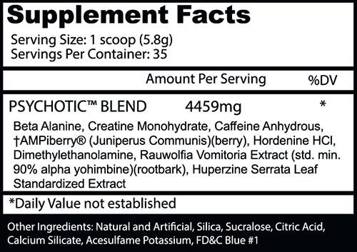PSYCHOTIC Pre Workout by Insane Labz, Watermelon, 35 Servings   Comprar Suplemento em Promoção Site Barato e Bom