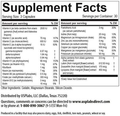 Vitamer Pro For Men, By USP Labs, 90 Caps   Comprar Suplemento em Promoção Site Barato e Bom