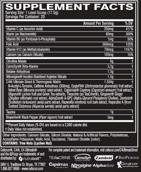 C4 Ultimate Shred By Cellucor, Strawberry Watermelon, 20 Servings   Comprar Suplemento em Promoção Site Barato e Bom