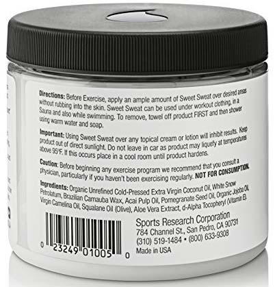 Sweet Sweat Coconut Jar By Sports Research, 13.5 oz   Comprar Suplemento em Promoção Site Barato e Bom